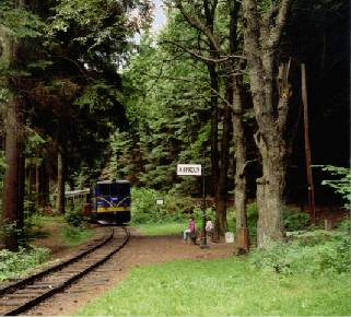 Narrow-gauge railway, station Kaproun