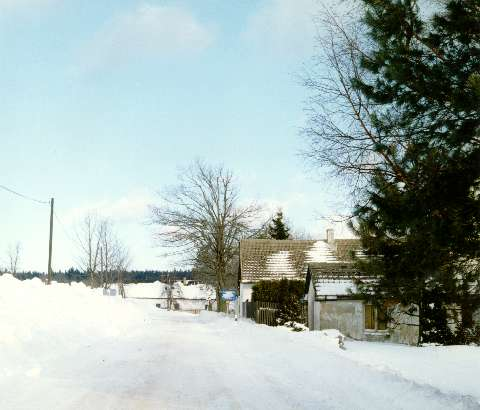 The village Klaster in the winter