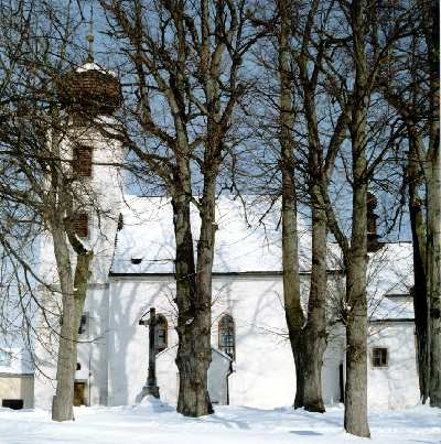 The church in Cesky Rudolec